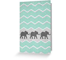 Three Elephants Greeting Card