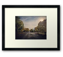 Autumn Street View, Crookwell NSW  Framed Print