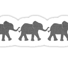 Three Elephants Sticker