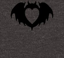 Clandestine Bat Heart - Black Zipped Hoodie
