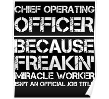 CHIEF OPERATING OFFICER BECAUSE FREAKIN' MIRACLE WORKER ISN'T AN OFFICIAL JOB TITLE Poster