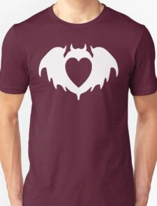 Clandestine Bat Heart - White T-Shirt