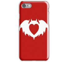 Clandestine Bat Heart - White iPhone Case/Skin