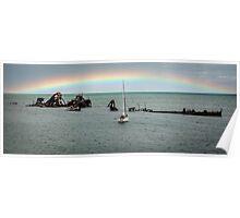 Tangalooma Wrecks - Moreton Island Qld Australia Poster