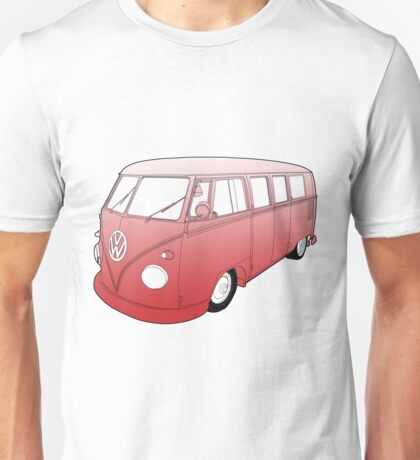 Red VW Camper Unisex T-Shirt