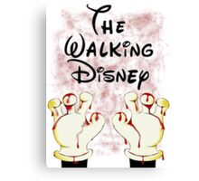 The Walking Disney Canvas Print