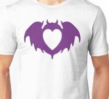 Clandestine Bat Heart - Purple Unisex T-Shirt