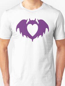 Clandestine Bat Heart - Purple T-Shirt