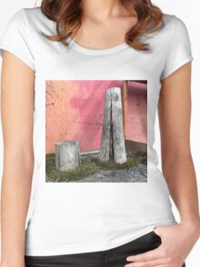 'Pillar house at home' The Accidental Pilgrim Women's Fitted Scoop T-Shirt