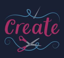 CREATE with scissors and needle Kids Tee