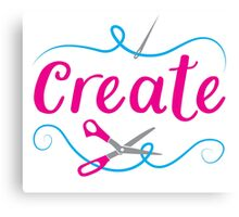 CREATE with scissors and needle Canvas Print