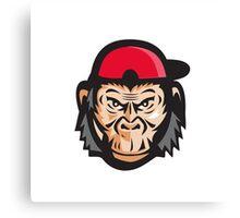 Angry Chimpanzee Head Baseball Cap Retro Canvas Print
