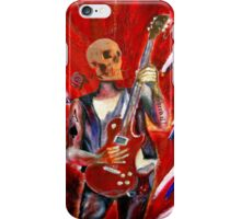 Fantasy heavy metal skull guitarist iPhone Case/Skin