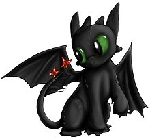 Lil Toothless by nutella-fandom