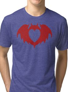 Clandestine Bat Heart - Red Tri-blend T-Shirt