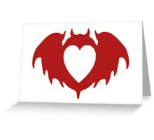 Clandestine Bat Heart - Red Greeting Card
