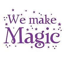We make magic in purple Photographic Print