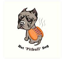 Hot Pitbull Dog Art Print