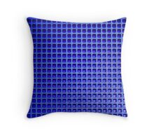 Blue Mesh Throw Pillow