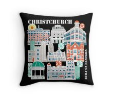 Christchurch - Built on memories Throw Pillow