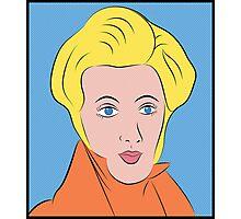 Soren Kierkegaard (Ben Day Dots / Lichtenstein Pop Art Style) Photographic Print