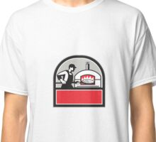 Pizza Cook Peel Wood Fired Oven Crest Retro Classic T-Shirt