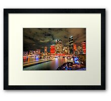 Circular Quay at Night Framed Print