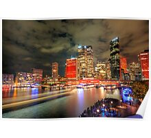 Circular Quay at Night Poster