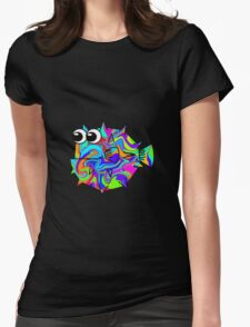 Colorful Pufferfish Womens Fitted T-Shirt