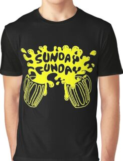 SUNDAY FUNDAY Drinking Beer College Booze Party Frat Graphic T-Shirt