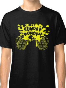 SUNDAY FUNDAY Drinking Beer College Booze Party Frat Classic T-Shirt