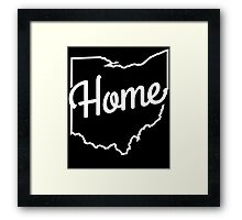Cleveland Ohio Home Shirt Framed Print