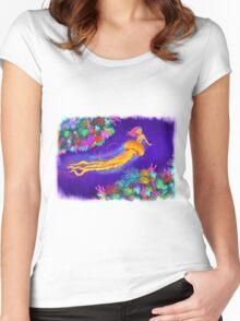 Jellyfish Mermaid! Women's Fitted Scoop T-Shirt