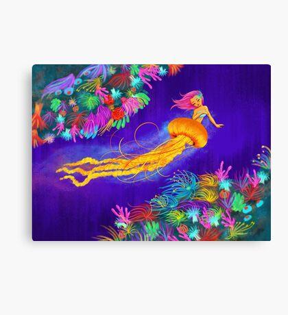 Jellyfish Mermaid! Canvas Print