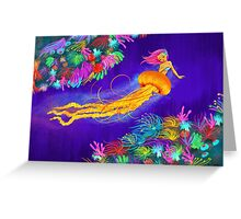 Jellyfish Mermaid! Greeting Card