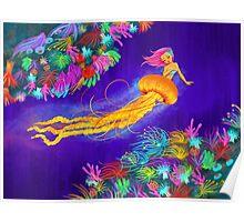 Jellyfish Mermaid! Poster