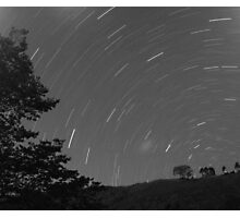 time lapse night sky Photographic Print