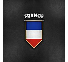 France Pennant with high quality leather look Photographic Print