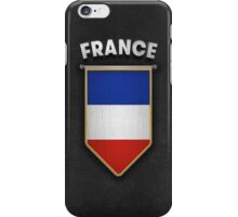 France Pennant with high quality leather look iPhone Case/Skin
