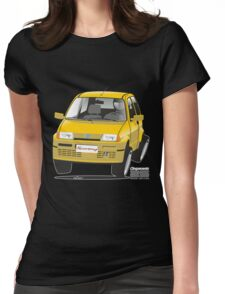 Fiat Cinquecento Sporting caricature Womens Fitted T-Shirt