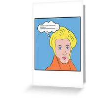 Soren Kierkegaard [Lichtenstein Pop Art Style with Quote] Greeting Card