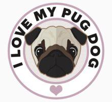 Love My Pug Dog Kids Tee