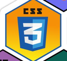 html5 css javascript django programming language stickers Sticker
