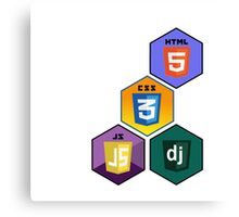 html5 css javascript django programming language stickers Canvas Print