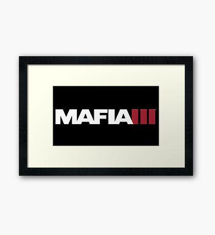 MAFIA 3 - Logo Framed Print