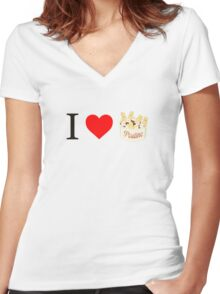 Poutine Women's Fitted V-Neck T-Shirt