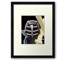 The Kendo Fighter Framed Print