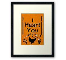 I Heart You - OITNB Framed Print
