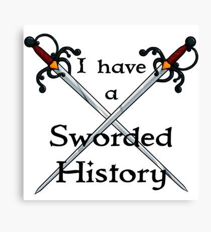 Sworded History Canvas Print