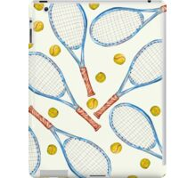 pattern with tennis rackets with tennis balls iPad Case/Skin